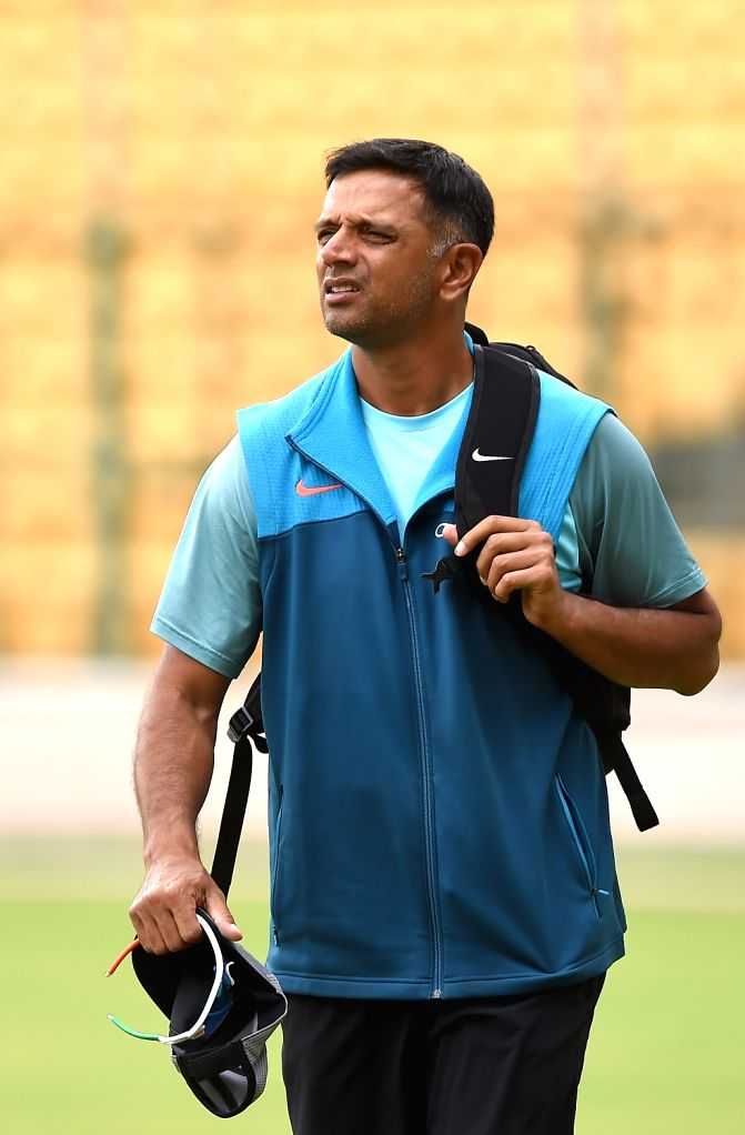 India A team coach Rahul Dravid during a practice session ahead of a four-day matches against South Africa A at M Chinnaswamy stadium, in Bengaluru, on  Aug 3, 2018 - Rahul Dravid