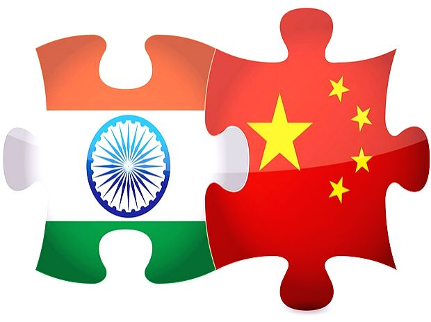 India and China Flags.