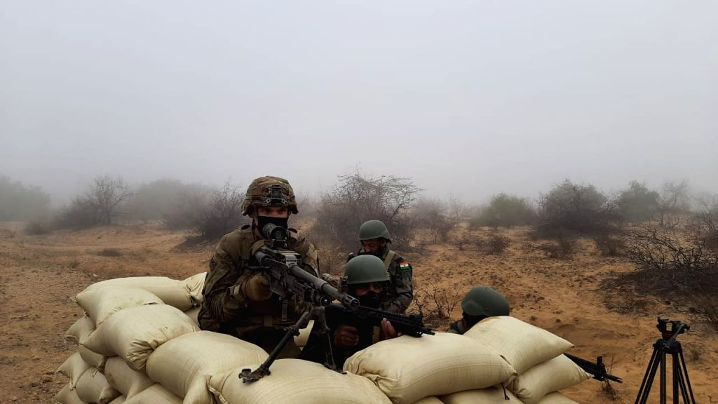 India and US soldiers are carrying out a joint tactical level exercise in the Thar desert, aimed at enhancing cooperation and interoperability.