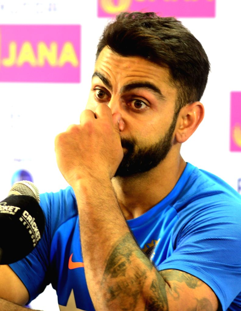 India captain Virat Kohli addresses a press conference at NCA in Bengaluru on March 3, 2017. - Virat Kohli