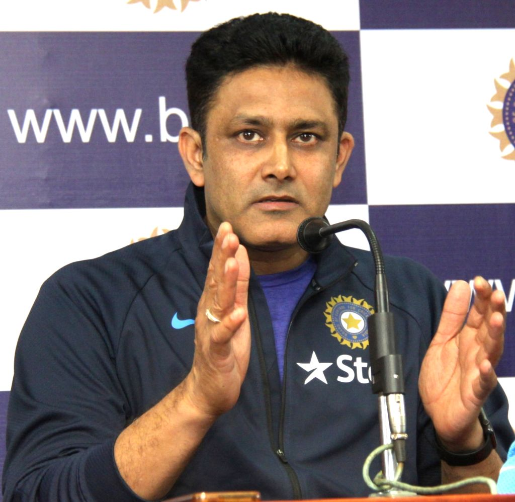 India cricket team head coach Anil Kumble addresses a press conference in Bengaluru on June 29, 2016.
