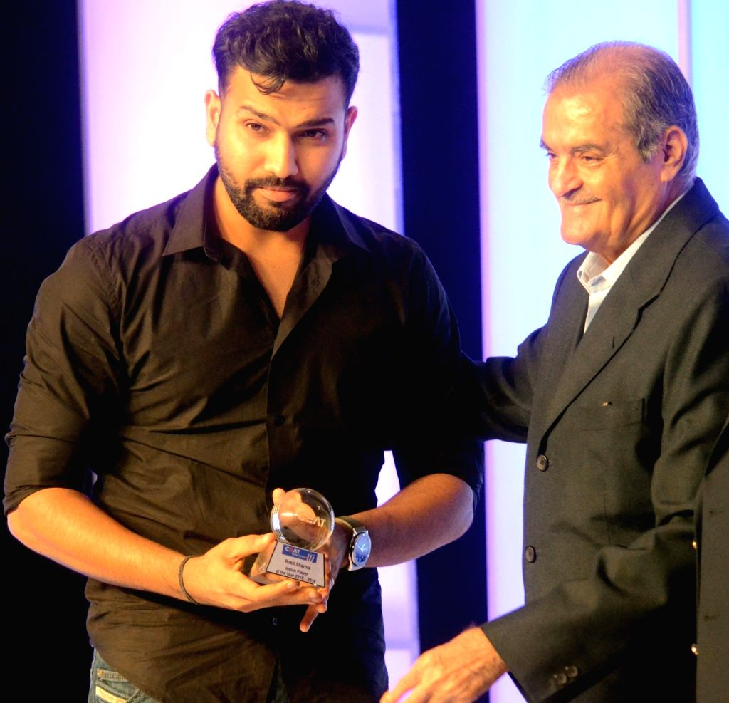 India cricketer Rohit Sharma during the CEAT award function in Mumbai on May 30, 2016. - Rohit Sharma