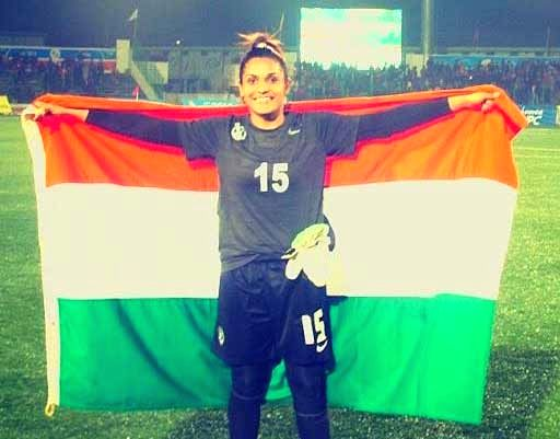 India goalkeeper Aditi Chauhan. - Chauhan