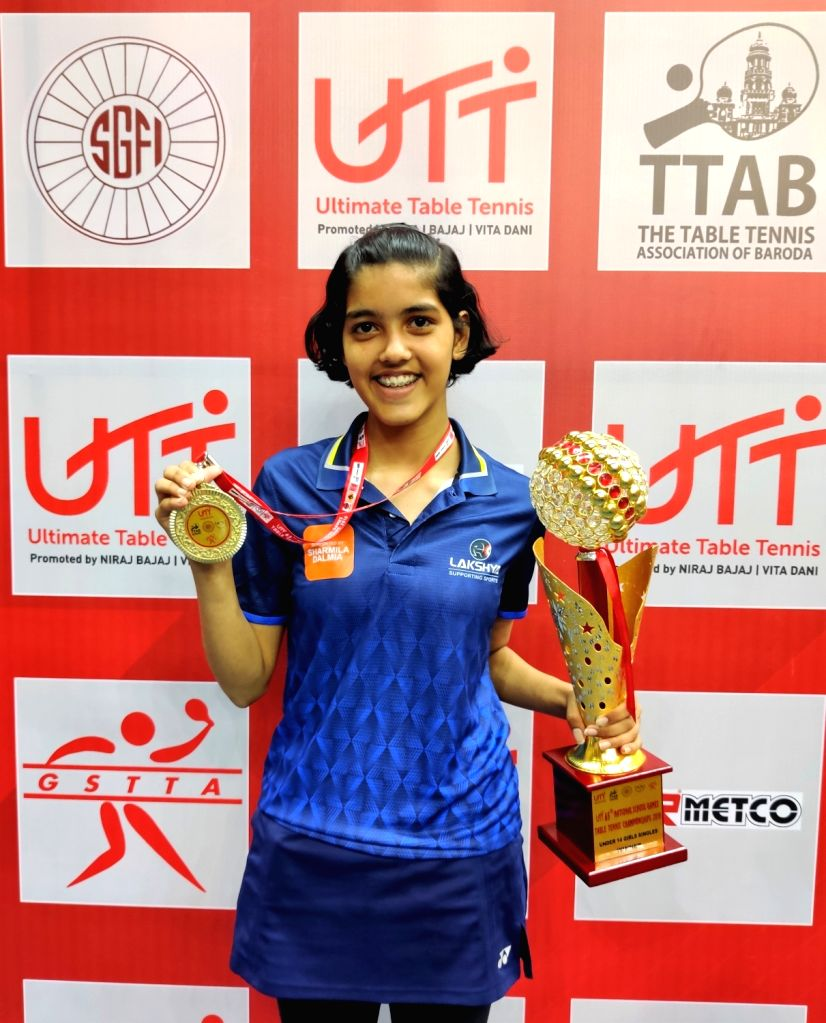 India No. 2 Pritha Vartikar pulled of a sensational victory to win the U14 title at the UTT 65th School National Games on Thursday.