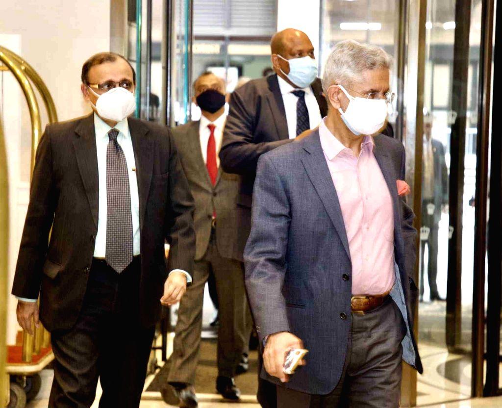 India pushes for more vaccine supplies as Jaishankar begins US visit.
