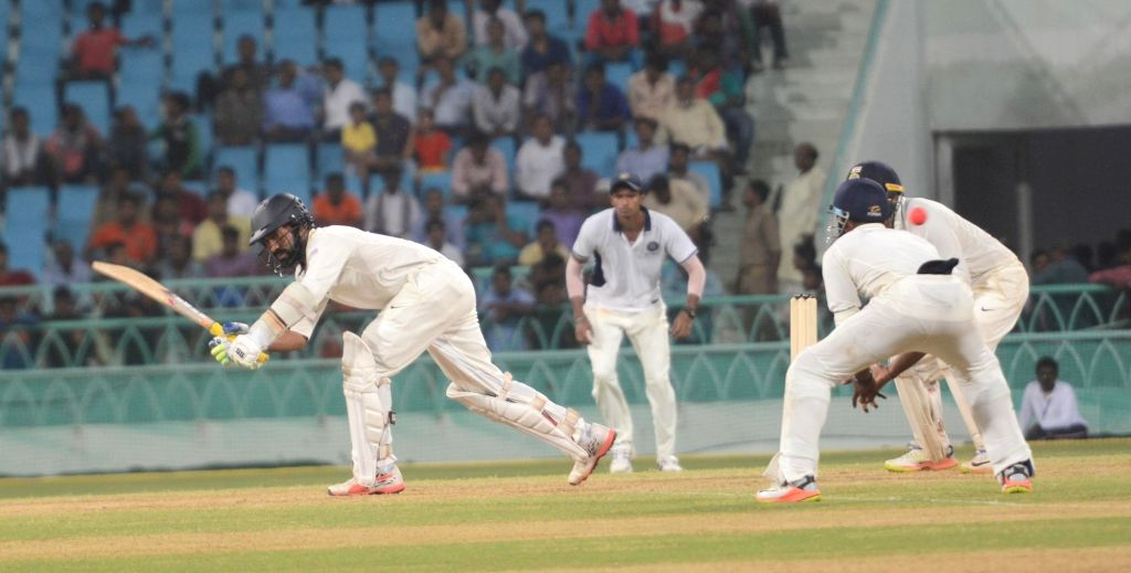 India Red's Dinesh Karthik in action on Day 1 of Duleep Trophy match between India Green and India Red in Lucknow on Sept 7, 2017.