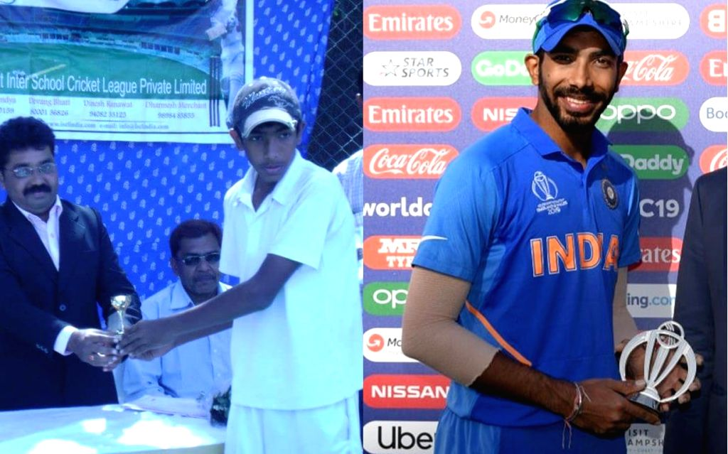 India's ace pacer Jasprit Bumrah on Wednesday shared a picture of him during his formative days in cricket.