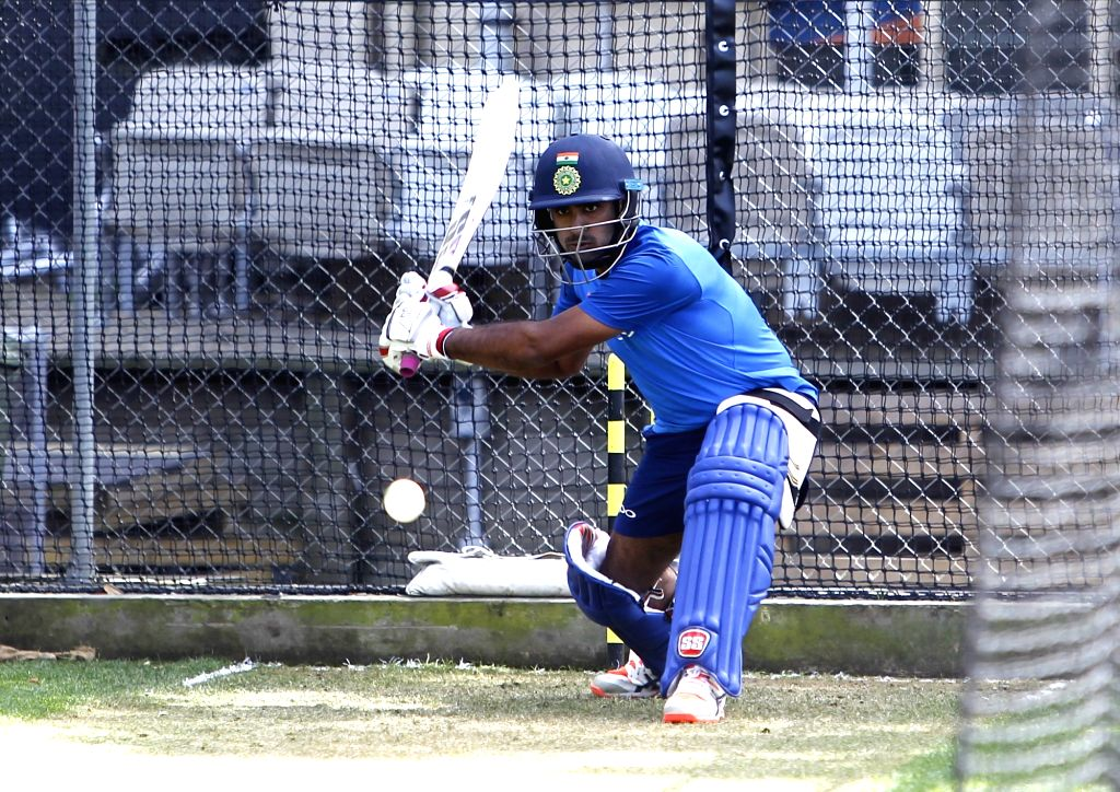 India's Ambati Rayudu during a practice session at Basin Reserve cricket stadium in Wellington, New Zealand on Feb. 2, 2019.