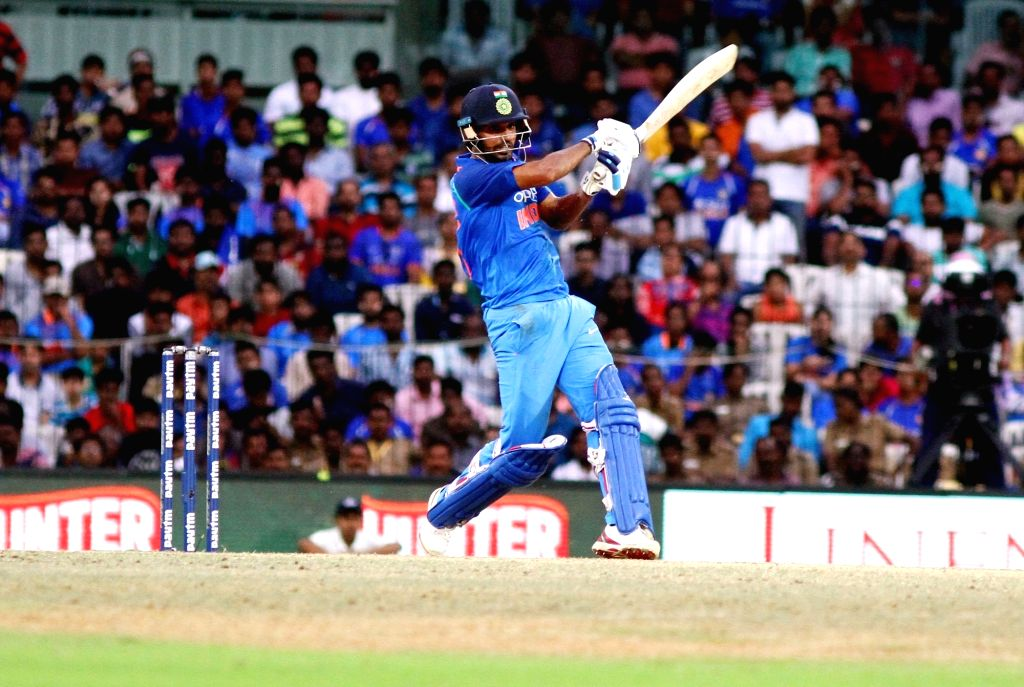 India's Bhuvneshwar Kumar in action during the first ODI cricket match between India and Australia at MA Chidambaram Stadium in Chennai on Sept 17, 2017. - Bhuvneshwar Kumar