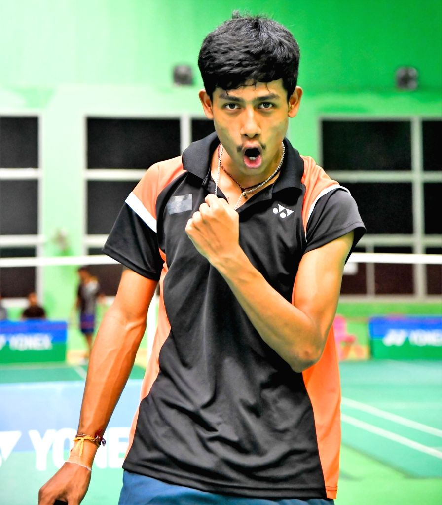 India's Dingku Singh Konthoujam on the first day of Asian Junior Badminton Championships Mixed Team event in New Delhi on July 20, 2019. - Dingku Singh Konthoujam
