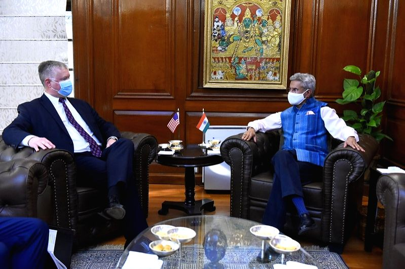 India's External Affairs Minister S. Jaishankar meets with United States Deputy Secretary of State Stephen Biegun in New Delhi on October 12, 2020. (Photo: MEA/State Dept./IANS) - S. Jaishankar