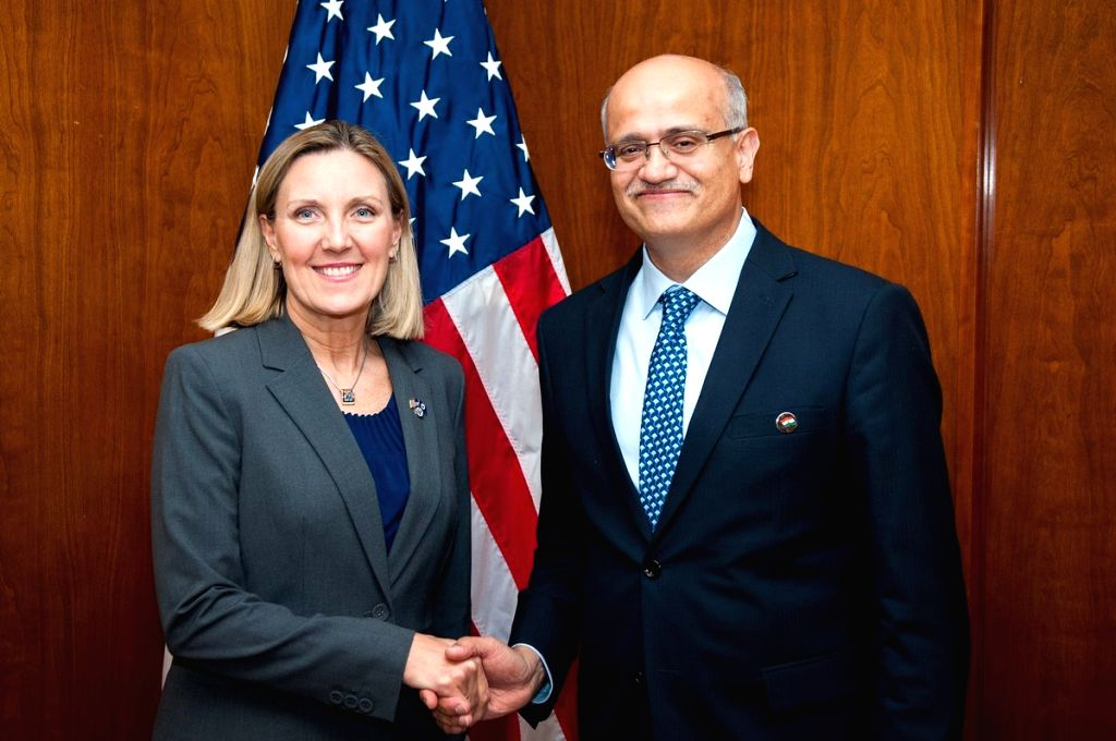 India's Foreign Secretary Vijay Gokhale and Andrea Thompson, the United States Under Secretary of State for Arms Control and International Security headed the Ninth India-US Strategic Security Dialogue on Wednesday, March 13, 2019. (Photo: State Dept
