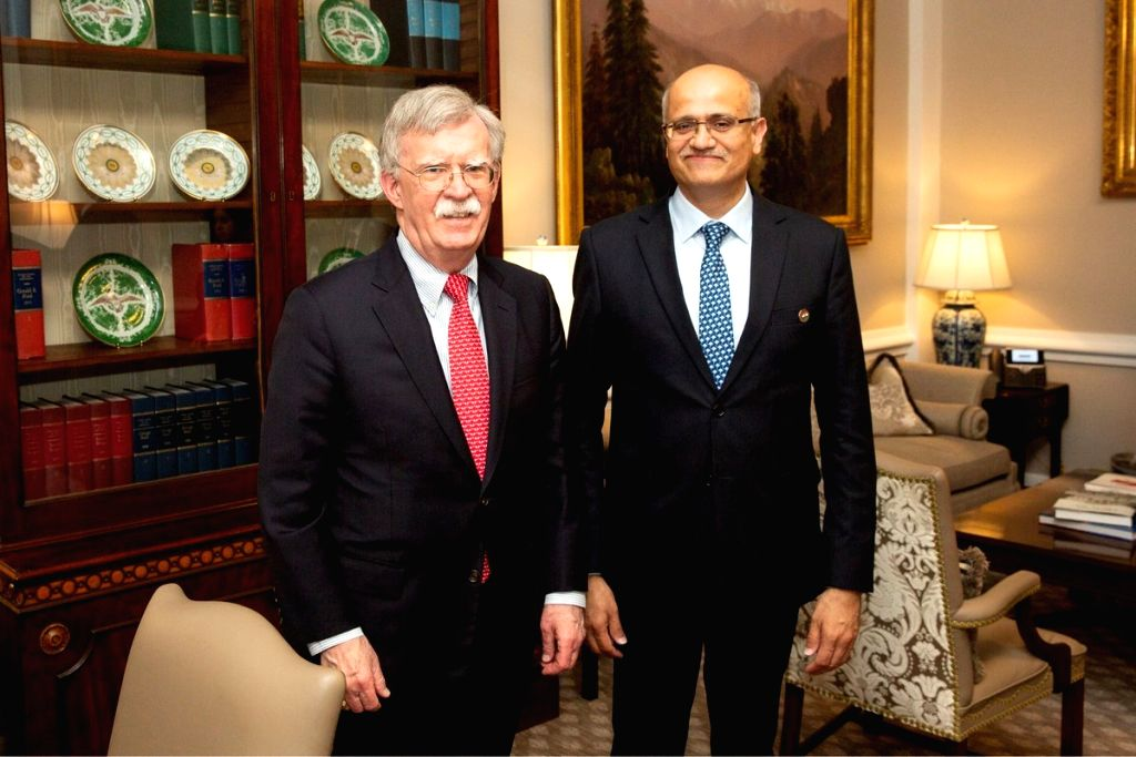 India's Foreign Secretary Vijay Gokhale met with US National Security Adviser John Bolton in Washington on Wednesday, March 13, 2019. (Photo: White House/IANS)