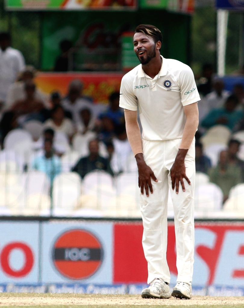 India's Hardik Pandya on Day 4 of the second test match between India and Sri Lanka at Sinhalese Sports Club Ground in Colombo, Sri Lanka on Aug 6, 2017.