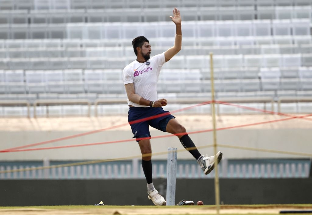 India's Ishant Sharma during a practice session ahead of the 3rd Test match against South Africa at JSCA International Stadium in Ranchi on Oct 17, 2019. - Ishant Sharma