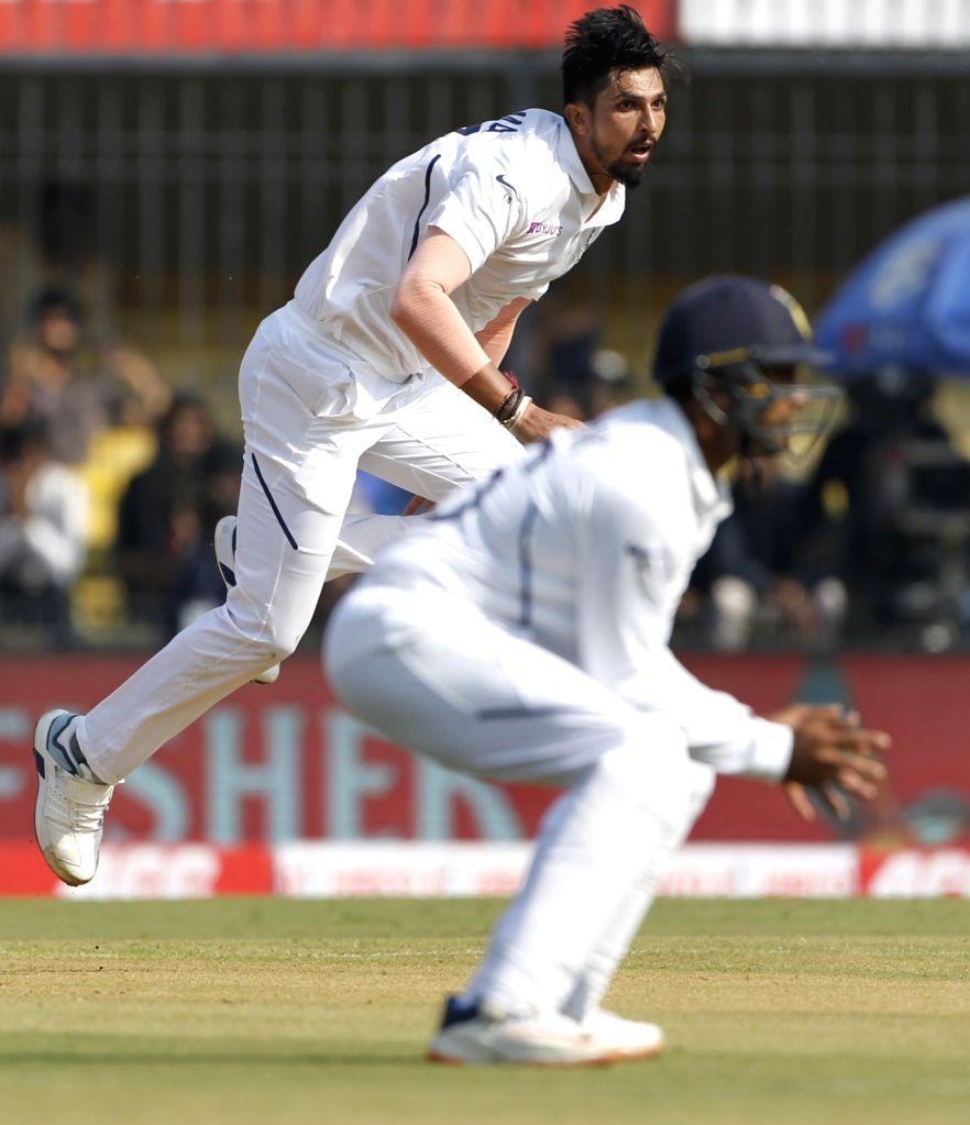 India's Ishant Sharma in action on Day 1 of the 1st Test match between India and Bangladesh at Holkar Cricket Stadium in Indore, Madhya Pradesh on Nov 14, 2019. - Ishant Sharma