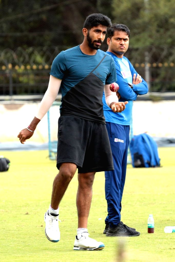 India's Jasprit Bumrah during a practice session ahead of the 3rd T20I match against South Africa at M. Chinnaswamy Stadium, in Bengaluru on Sep 20, 2019.