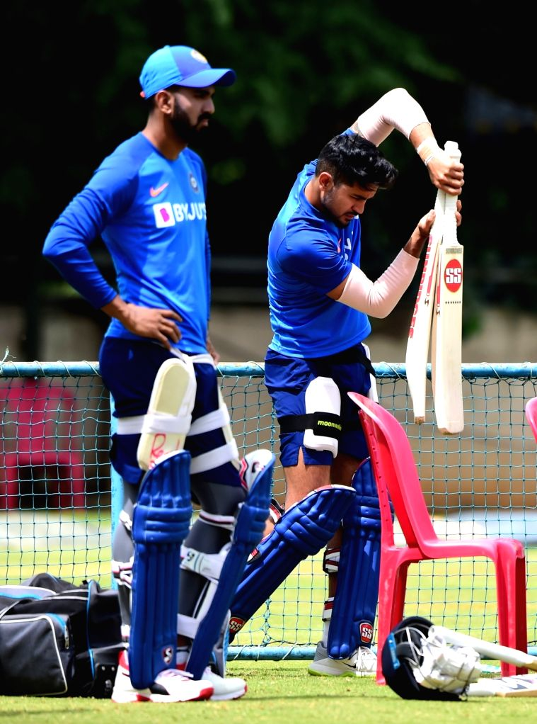 India's KL Rahul and Manish Pandey during a practice session ahead of the 3rd T20 match against South Africa at Chinnaswamy Stadium, in Bengaluru on Sep 20, 2019. - Manish Pandey