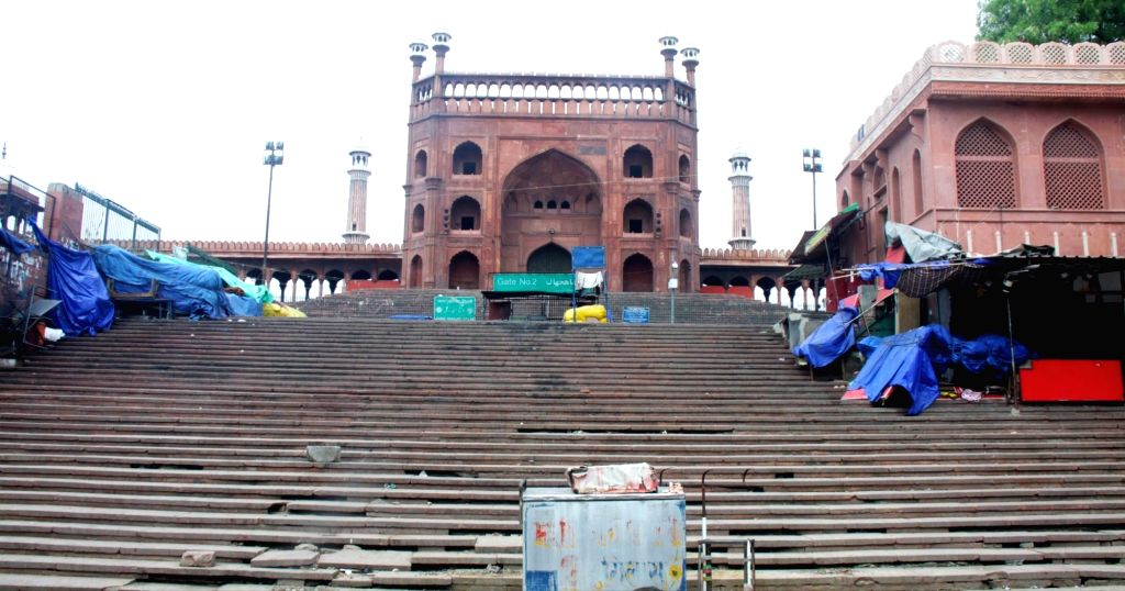 India's largest mosque - The Jama Masjid - bears a deserted look on the eve of Ramadan - the Muslim holy month of fasting - during the extended nationwide lockdown imposed to mitigate the ...