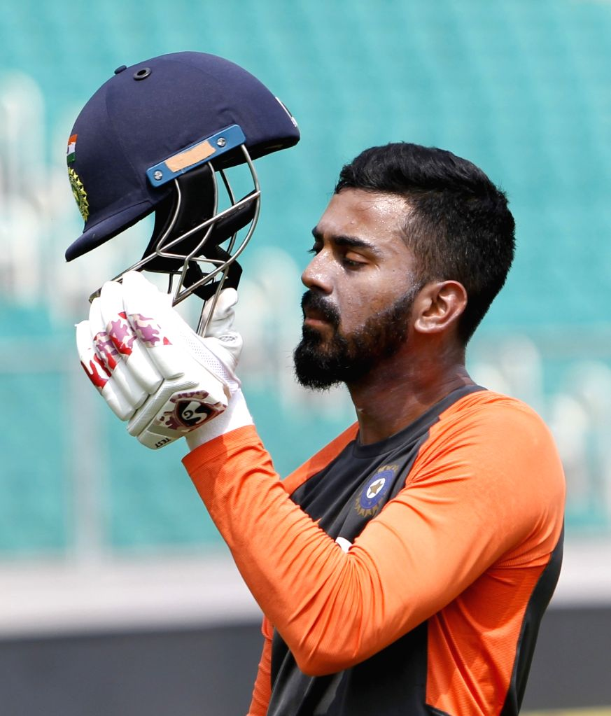 India's Lokesh Rahul during a practice session ahead of the fifth ODI match against West Indies in Thiruvananthapuram on Oct 31, 2018. - Lokesh Rahul