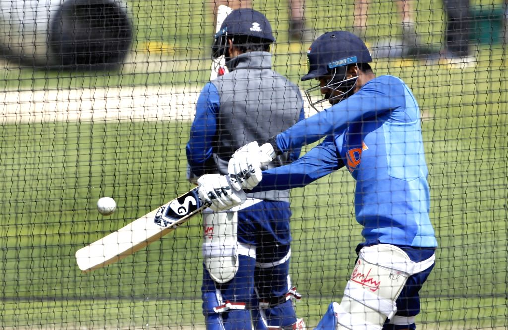 India's Lokesh Rahul during a practice session ahead of 2019 ICC Cricket World Cup match against Australia, at the Oval in London on June 8, 2019. - Lokesh Rahul