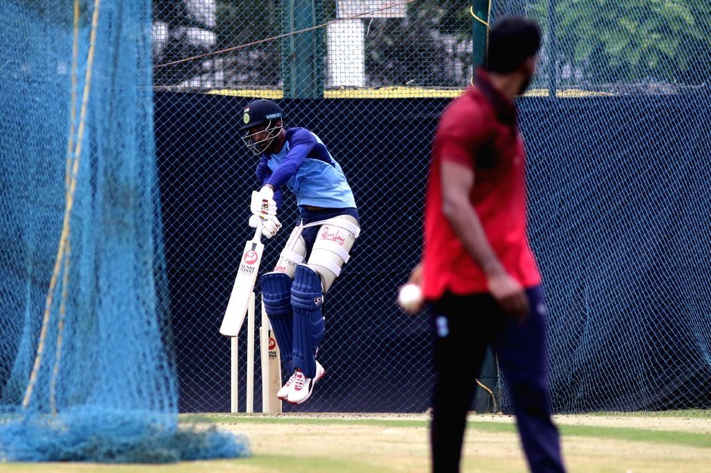 India's Lokesh Rahul during a practice session ahead of the 1st one-day international (ODI) match against West Indies, at MA Chidambaram Stadium in Chennai on Dec 13, 2019. - Lokesh Rahul