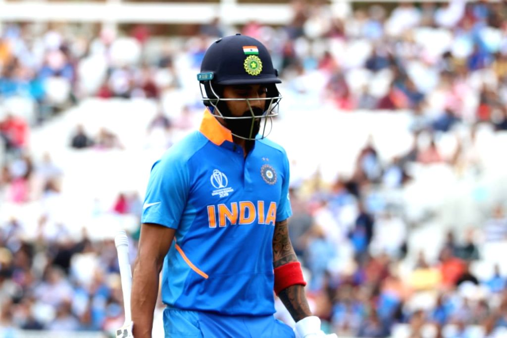India's Lokesh Rahul during India's first warm-up match against New Zealand at the Kennington Oval, London on May 25, 2019. - Lokesh Rahul