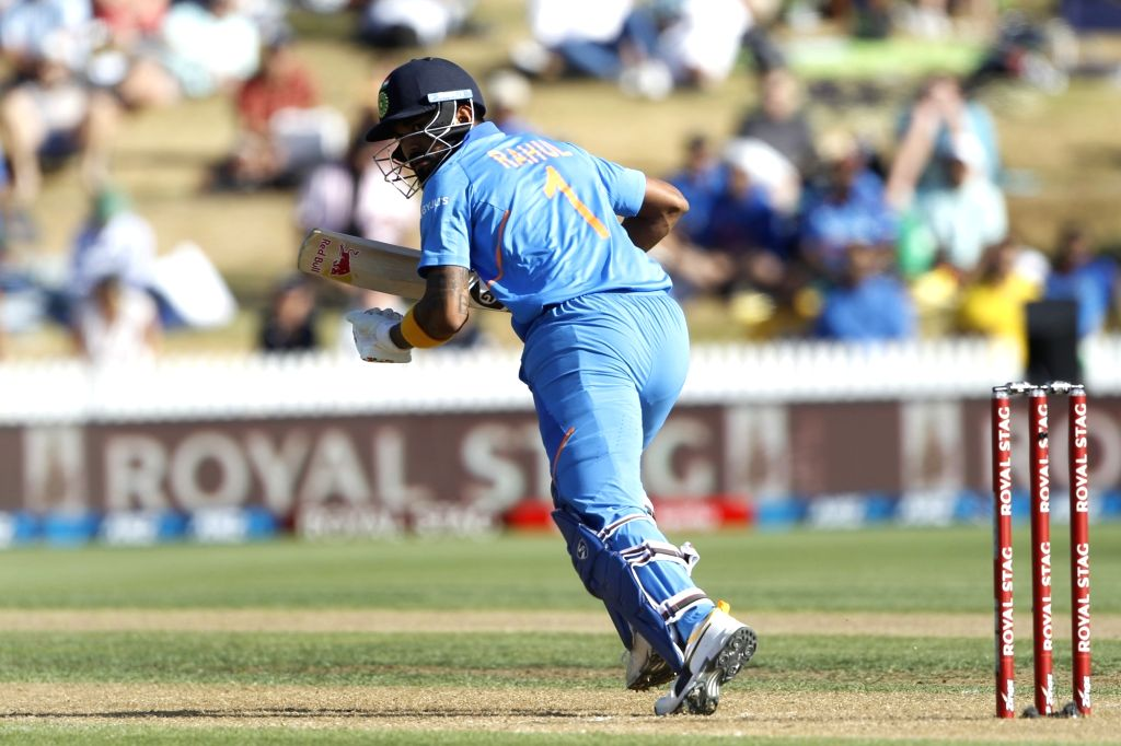 India's Lokesh Rahul during the 1st ODI of the three-match series between India and New Zealand at the Seddon Park in Hamilton, New Zealand on Feb 5, 2020. - Lokesh Rahul