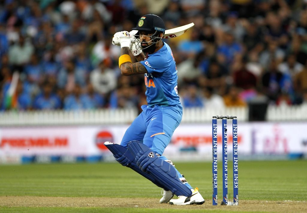 India's Lokesh Rahul  during the third T20I of the five-match rubber at Seddon Park in Hamilton, New Zealand on Jan 29, 2020. - Lokesh Rahul