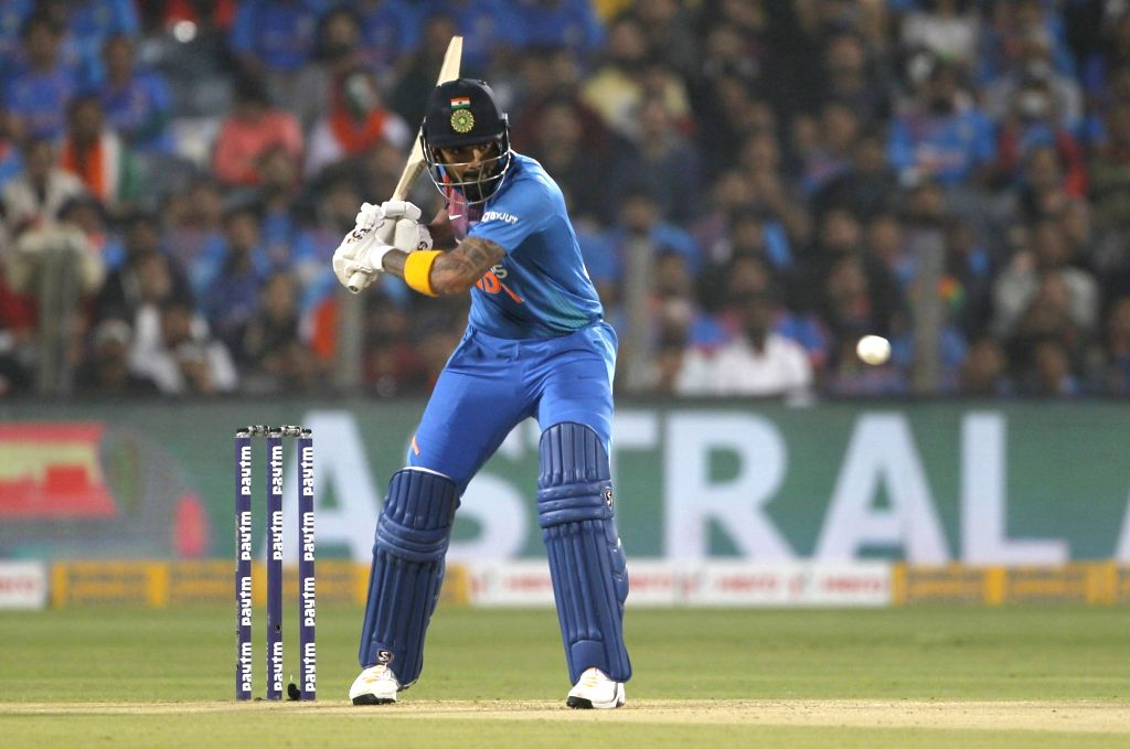 India's Lokesh Rahul in action during the 3rd T20I match between India and Sri Lanka at the Maharashtra Cricket Association Stadium in Pune on Jan 10, 2020. - Lokesh Rahul