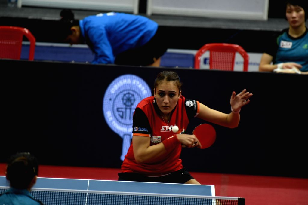 India's Manika Batra in action during the 21st Commonwealth Table Tennis Championships in Cuttack, Odisha on July 18, 2019.