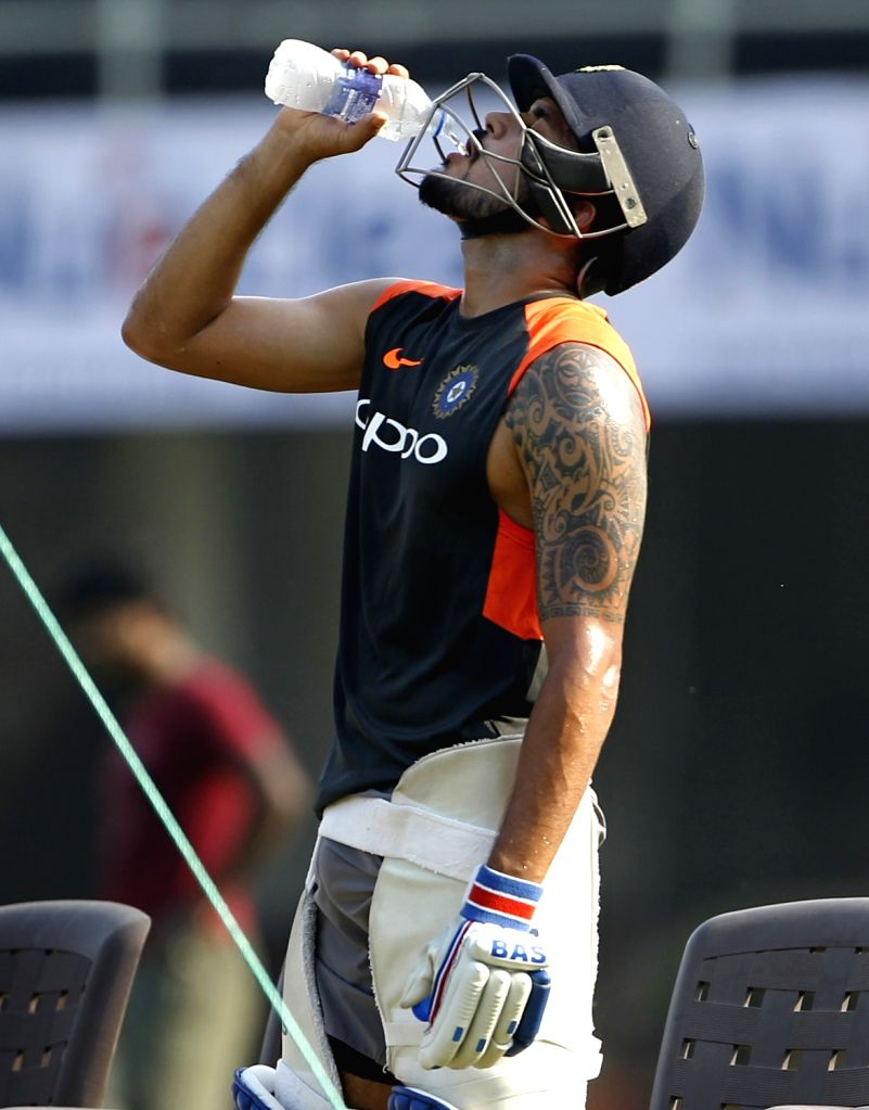 India's Manish Pandey during a practice session ahead of the fourth ODI match against West Indies, at Cricket Club of India in Mumbai, on Oct 28, 2018. - Manish Pandey