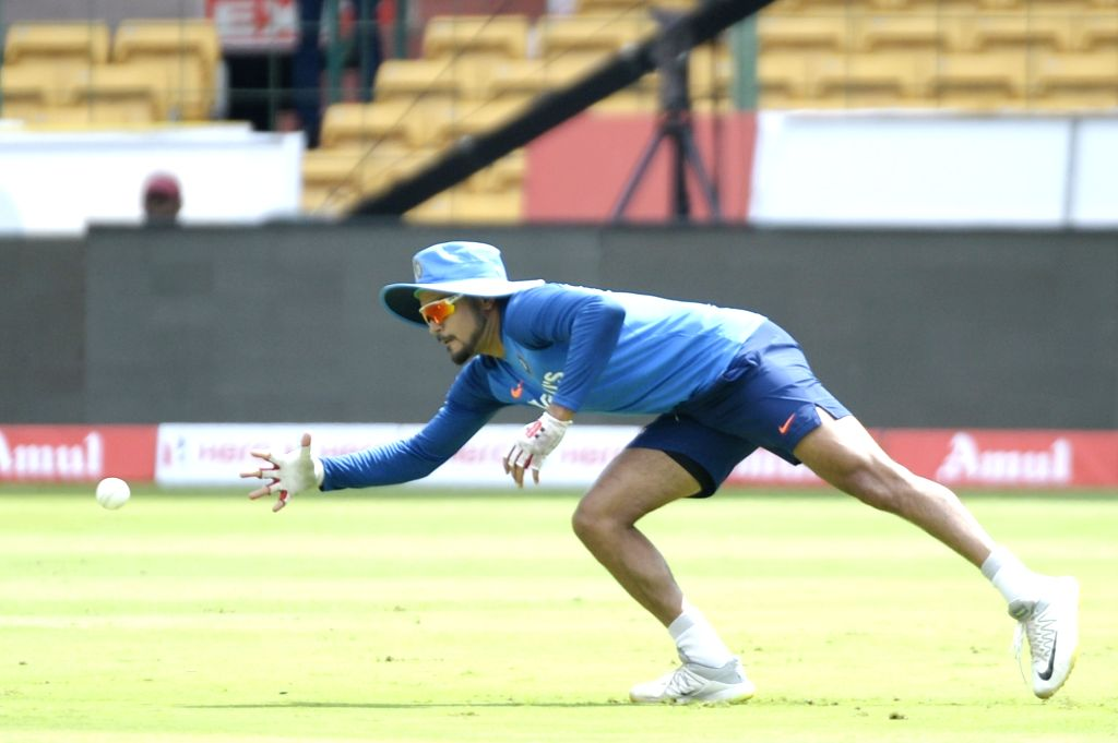 India's Manish Pandey during a practice session ahead of the final T20I match against South Africa, at M. Chinnaswamy Stadium in Bengaluru on Sep 21, 2019. - Manish Pandey