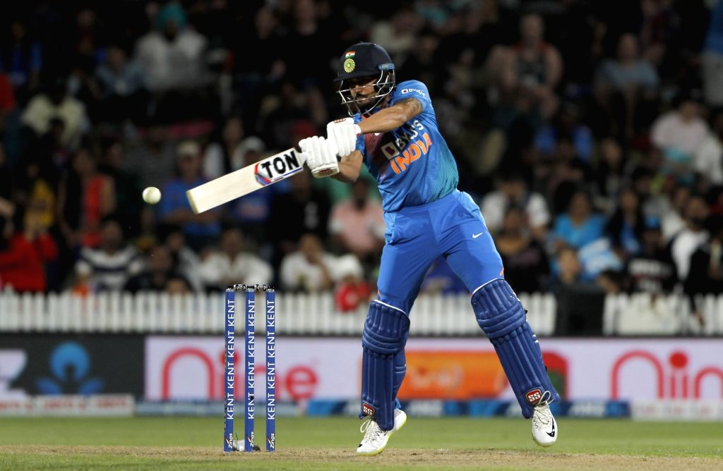 India's Manish Pandey in action during the third T20I of the five-match rubber at Seddon Park in Hamilton, New Zealand on Jan 29, 2020. - Manish Pandey