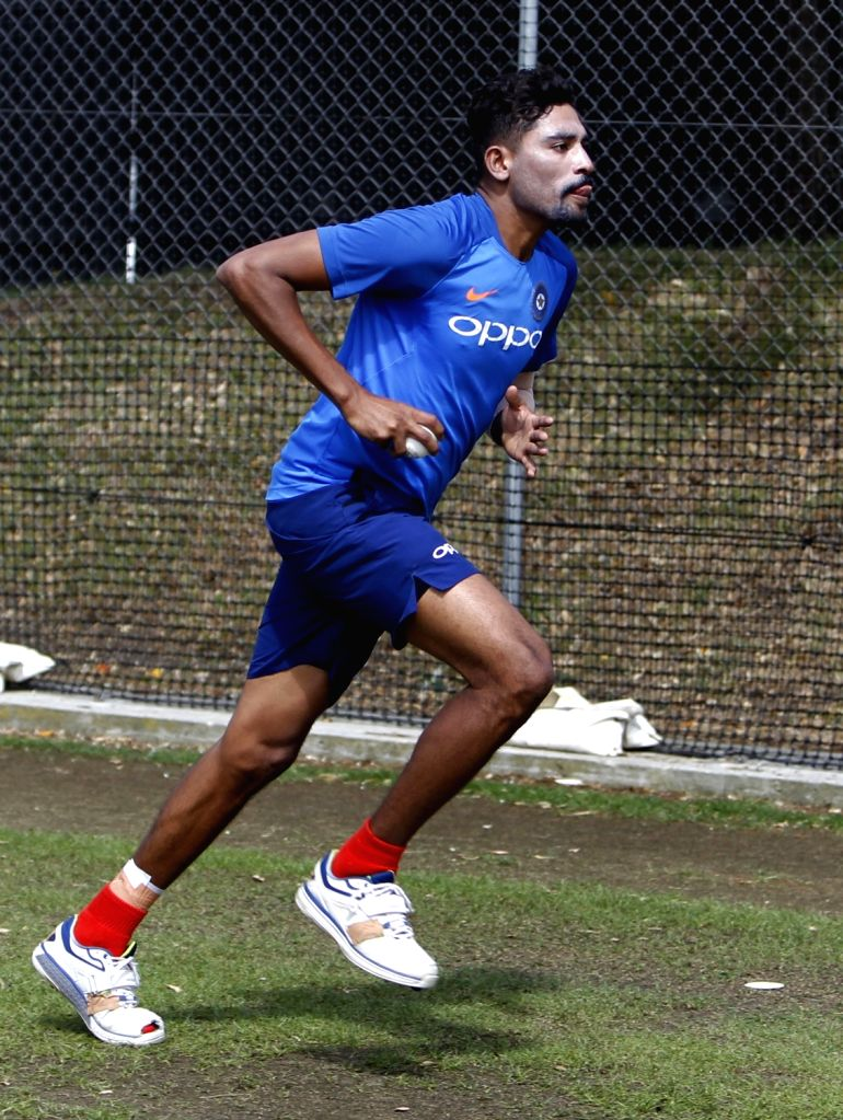 India's Mohammed Siraj during a practice session at Basin Reserve cricket stadium in Wellington, New Zealand on Feb. 2, 2019.