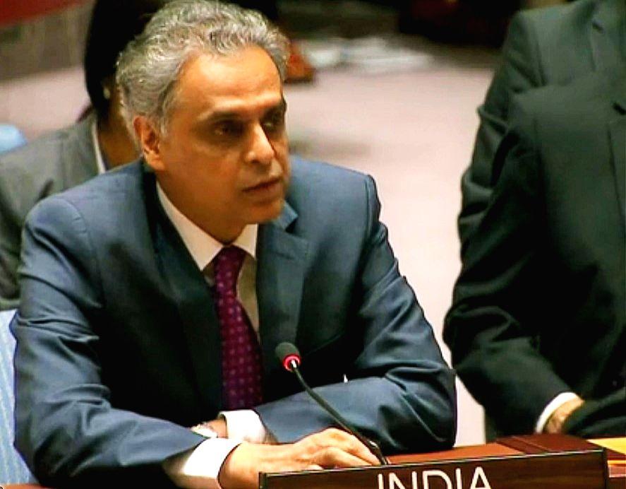 India's Permanent Representative Syed Akbaruddin. (Photo: India UN Mission/IANS)
