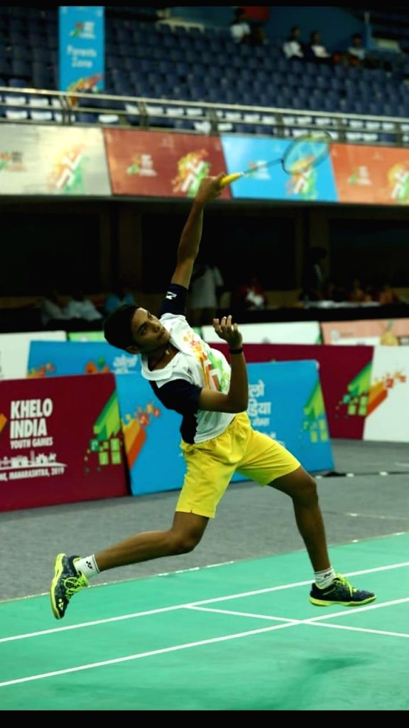 India's Pranav Rao Gandham in action against Armenia???s Arman Vardanyan on the first day of the 21st edition of BWF World Junior Championships in Kazan, Russia on Oct 7, 2019. Gandham crushed ... - Pranav Rao Gandham