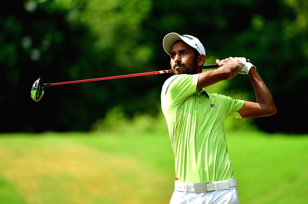 India's Rashid Khan in action during the Classic Golf & Country Club International Championship in Gurugram on Sep 13, 2019. - Rashid Khan