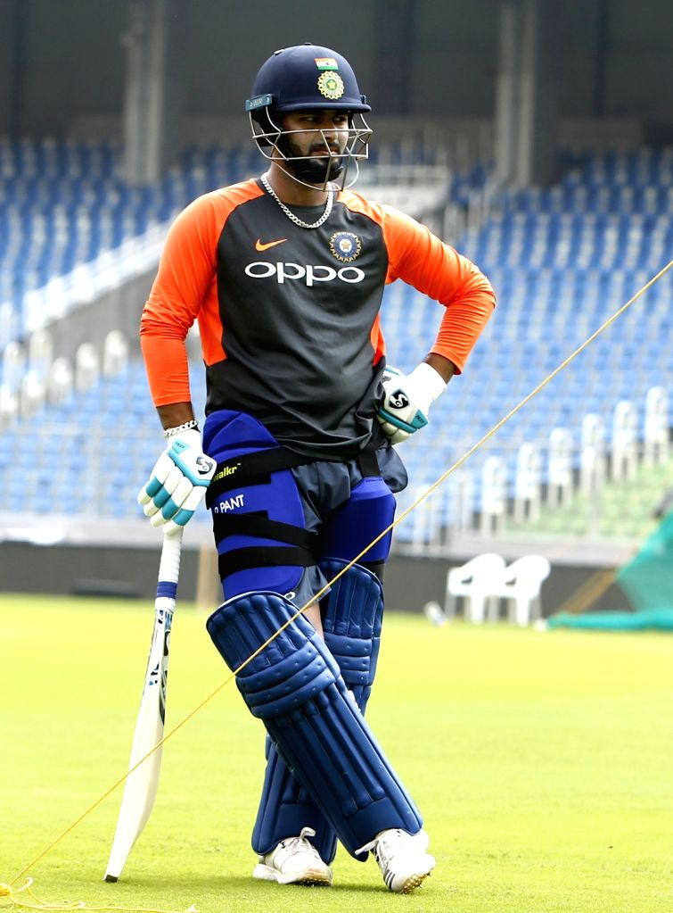 India's Rishabh Pant during a practice session ahead of the fifth and final ODI match against West Indies in Thiruvananthapuram, on Oct 31, 2018.