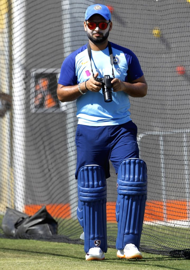 India's Rishabh Pant during a practice session ahead of the 3rd ODI against New Zealand, at the Bay Oval in Tauranga, New Zealand on Feb 10, 2020.