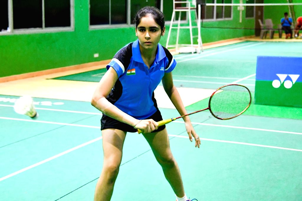 India's Ritika Thaker on the first day of Asian Junior Badminton Championships Mixed Team event in New Delhi on July 20, 2019.