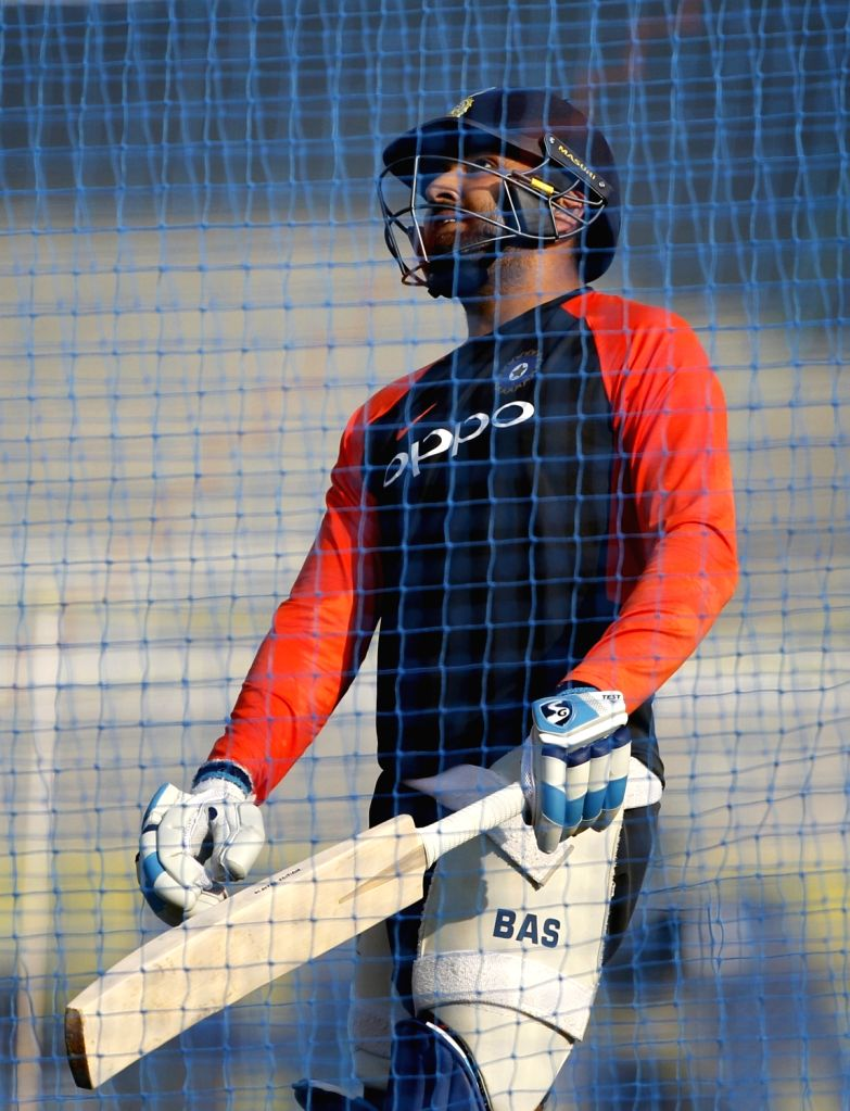 India's Rohit Sharma during a practice session ahead of the fourth ODI match against West Indies, at Cricket Club of India in Mumbai, on Oct 28, 2018. - Rohit Sharma