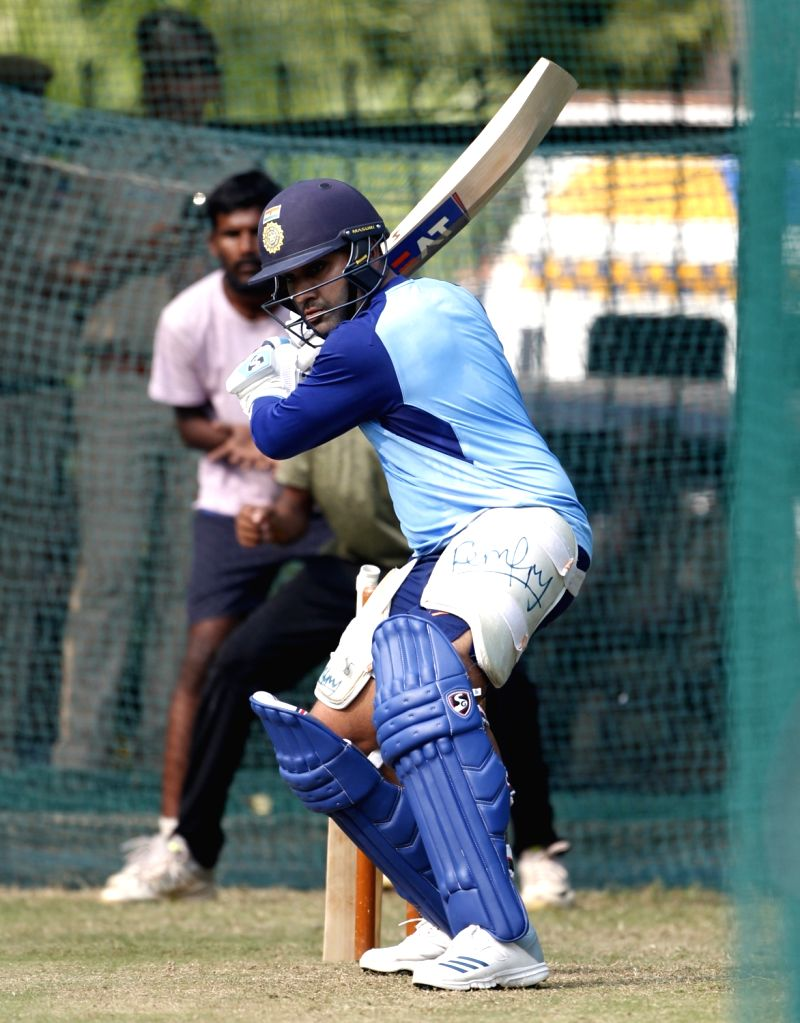 India's Rohit Sharma during a practice session ahead of the first Twenty20 match between India and West Indies at Rajiv Gandhi International Cricket Stadium in Hyderabad on Dec 4, 2019. - Rohit Sharma