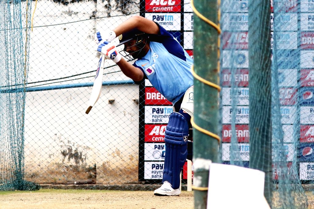 India's Rohit Sharma during a practice session ahead of the 1st one-day international (ODI) match against West Indies, at MA Chidambaram Stadium in Chennai on Dec 13, 2019. - Rohit Sharma