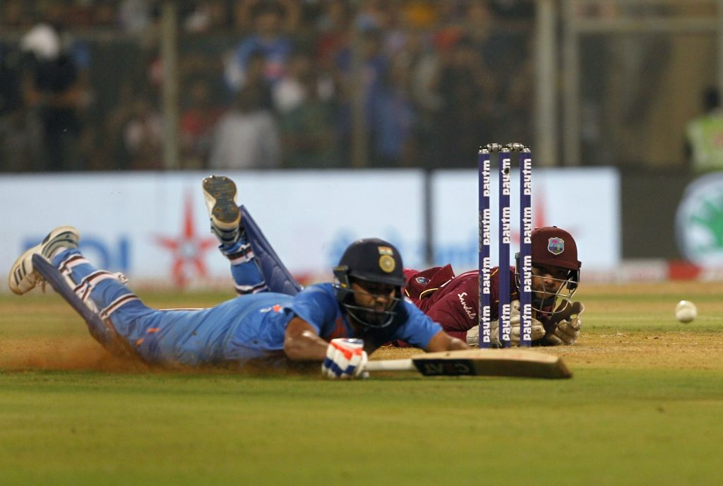 India's Rohit Sharma during the third T20I match between India and West Indies at Wankhede Stadium in Mumbai on Dec 11, 2019. - Rohit Sharma