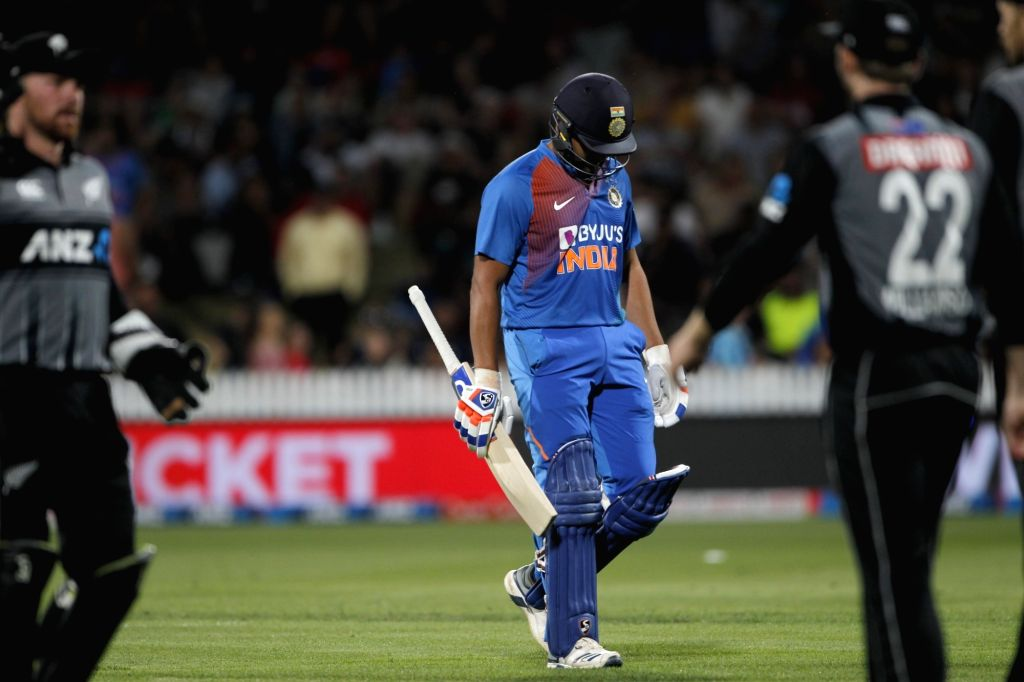 India's Rohit Sharma during the third T20I of the five-match rubber at Seddon Park in Hamilton, New Zealand on Jan 29, 2020. - Rohit Sharma