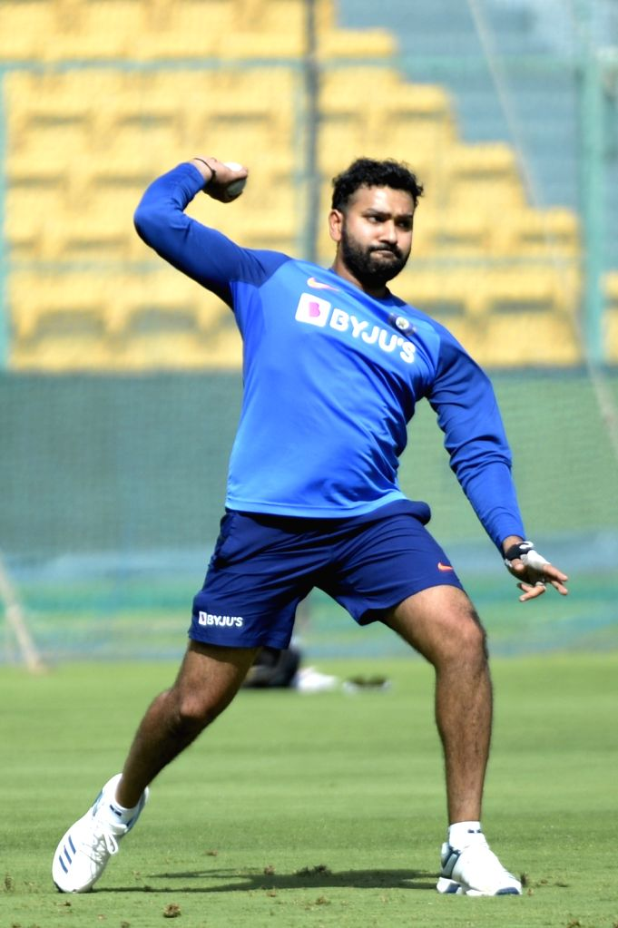 India's Rohit Sharma in action during a practice session ahead of the final T20I match against South Africa, at M. Chinnaswamy Stadium in Bengaluru on Sep 21, 2019. - Rohit Sharma