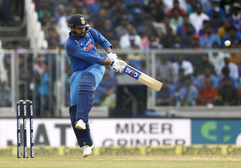 India's Rohit Sharma in action during the fifth and final ODI match between India and West Indies in Thiruvananthapuram, on Nov. 1, 2018. - Rohit Sharma