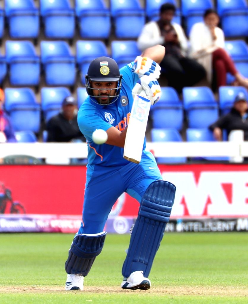 India's Rohit Sharma in action during the second warm-up match between India and Bangladesh at the Sophia Gardens in Cardiff, Wales on May 28, 2019. - Rohit Sharma