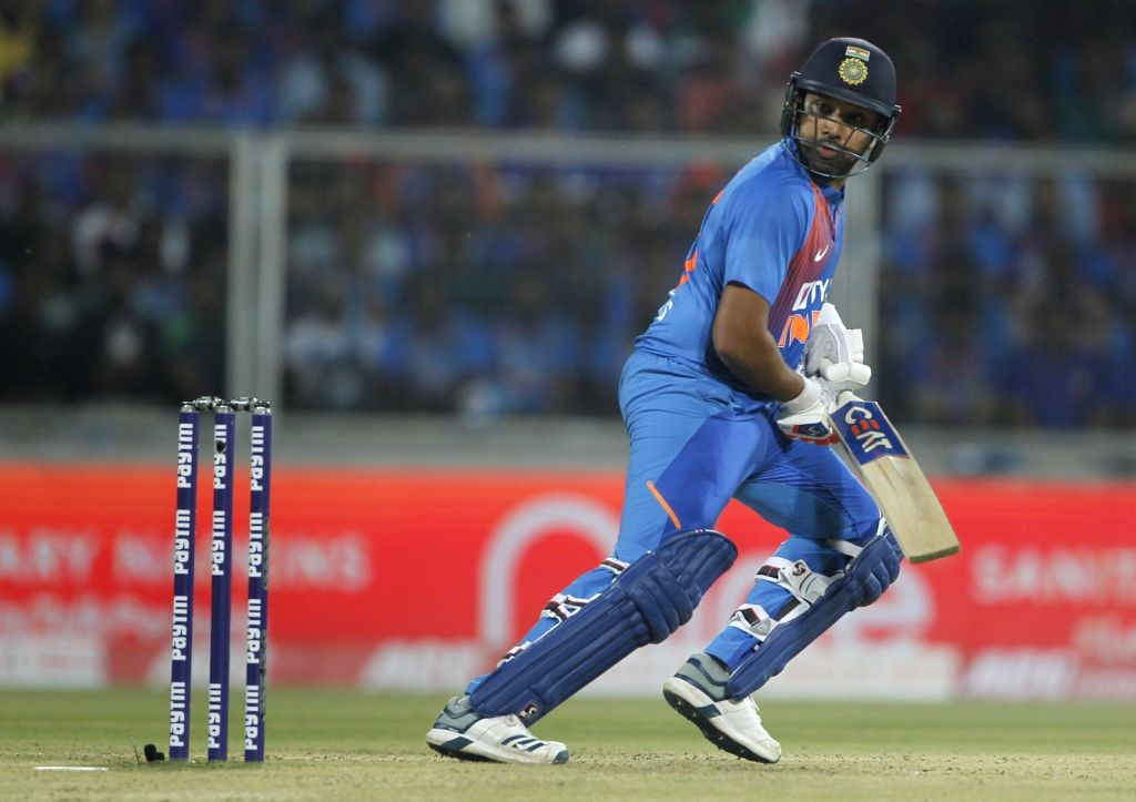 India's Rohit Sharma in action during the second T20I match between India and West Indies at the Greenfield International Stadium in Thiruvananthapuram, Kerala on Dec 8, 2019. - Rohit Sharma